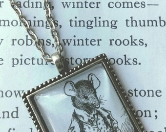 Steampunk mouse necklace