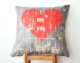 """Valentines Gift, Valentine Pillow, Decorative Pillows, Throw Pillow, Cushion Cover, Gifts For Her 16"""" x 16"""""""