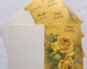 Vintage | Yellow Rose | Birthday | Cards