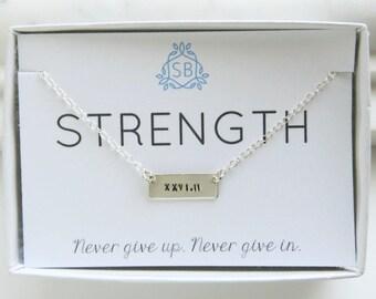 Marathon Necklace • Tiny Bar Necklace • Gift For Runner • Best Friend Gift • Marathon Jewelry • Running Jewelry • Marathon Training • S01