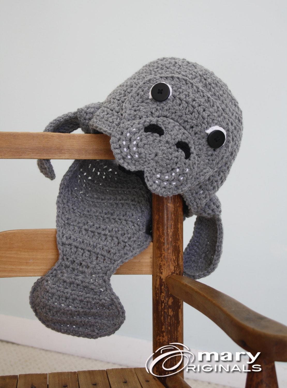 Manatee Hat Crochet Beanie Fish Hat Manatee Men Women
