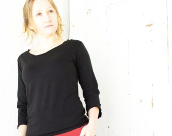 Organic Basic Long Sleeve Top - Many Colors Available - Organic Cotton Blend