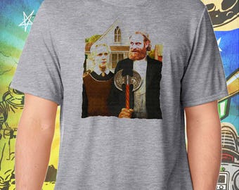 Game of Thrones / Tormund and Brienne Westeros Gothic / Men's Gray Performance T-Shirt