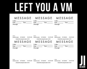 Minimalistic Phone Message 6-up