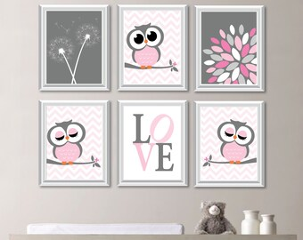 Baby Girl Nursery Art. Girl Nursery Decor. Owl Nursery Art. Owl Decor. Owl Nursery Decor. Owl Nursery Wall Art. Dream Big Little One. NS-745