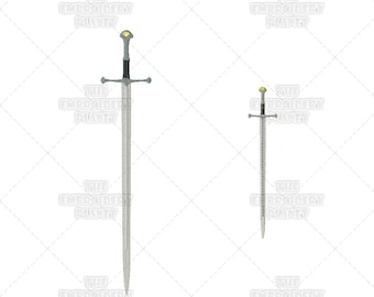 Lord of the Rings, Aragorn, Sword, Anduril, Machine Embroidery, Patterns, Designs