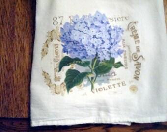 Kitchen Flour Sack Towel (Hydrangea)