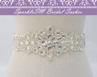 Bridal Sash Belt, Rhinestone Sash, Wedding Belt, Wedding Dress Sash, Statement Sash, Crystal Dress Sash, Pearl Bridal Sash, Bridal Belt