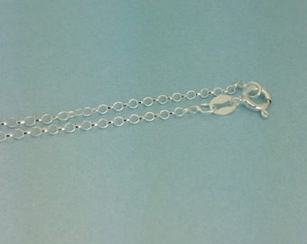 """925 Sterling Silver Rolo/Belcher Chain. Finished 16 """"Rolo /Belcher Chain necklace. Quantities of 1,5,10 or 20 available."""