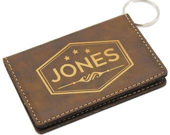 ID Keychain Wallet, ID Badge Holder, ID Card holder, Wallet Keychain, Personalized id Holder, id Holder Keychain Wallet, Keychain id Wallet