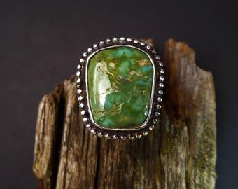 Green Cripple Creek Turquoise Ring