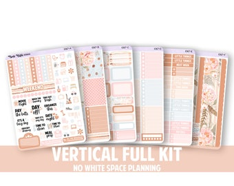 1067-FK // VERTICAL 6 Piece Full Kit - No White Space Planning // Proud Collection // Planner Stickers
