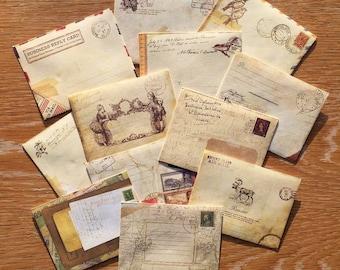 6 pack Mini Vintage Envelopes