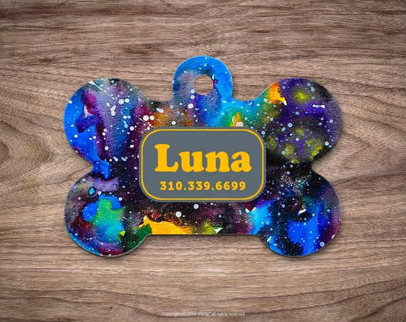 Gog Tag Pet id Tag Dog Tags for Dogs Galaxy Paint Dog Tag Personalized Cat Tags Pet Gift Custom Dog Tag Pet Tags Dog Tags Personalized
