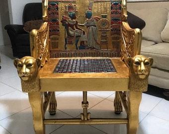 Tutankhamen's Throne Chair Original Replica