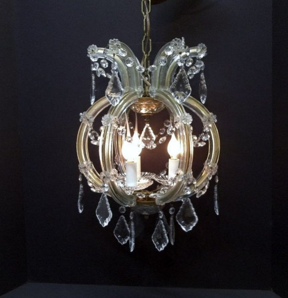 Italian crystal chandelier 1960s venetian crystal chandelier 3 like this item aloadofball Images