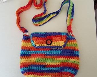 Rainbow chunky handbag