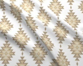 Neutral Kilim Fabric - Kilim - Tan/White By Sugarpinedesign - Gender Neutral Boho Baby Nursery Cotton Fabric By The Yard With Spoonflower