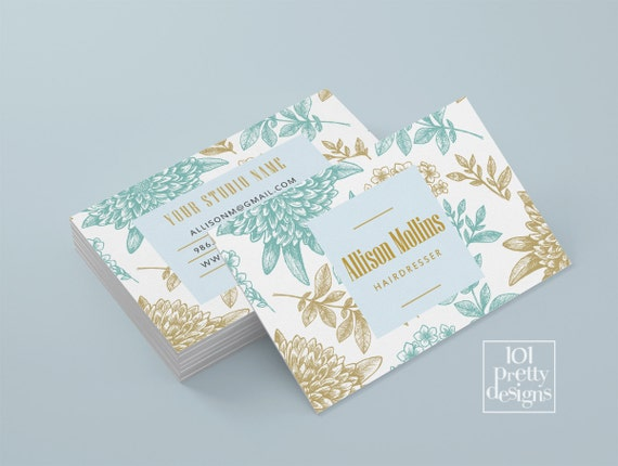 Floral business card design flowers business card template accmission Choice Image
