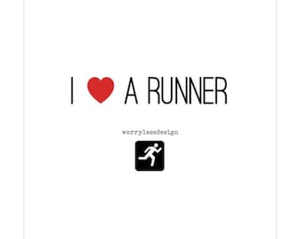 Runners Card - I love a runner