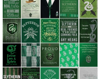 House Slytherin Harry Potter Inspired Magnets.