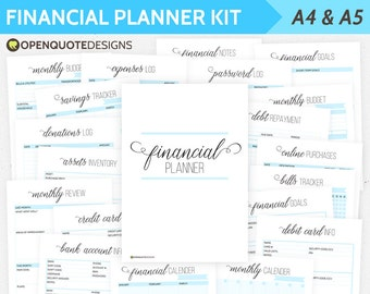A5 Filofax Finance Printable, Budget Planner, Household Budget Organizer, Personal Finance Planner, Mom Planner