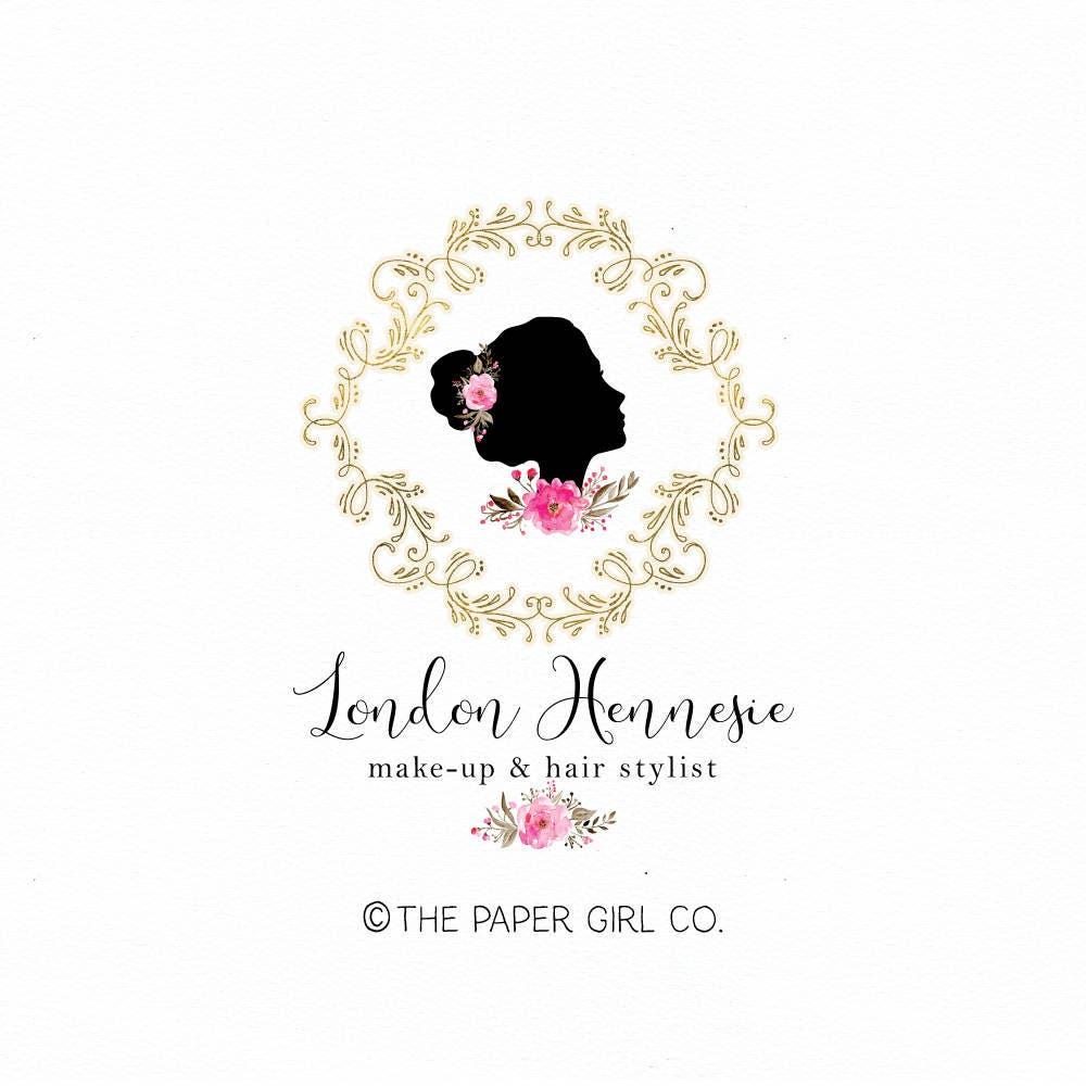 Beauty shop logo make up artist logo stylist logo design hair for Accesorios para salon de belleza