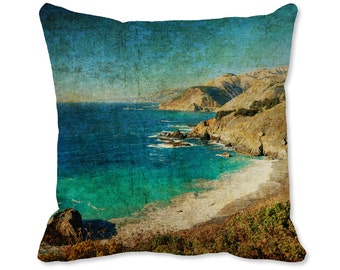 Beach Decor - Photo Pillow - Ocean Pillow - Nature Decor - Pacific Coast Decor - Beach Throw Pillow