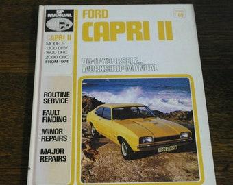 Car parts accessories vintage etsy uk vintage 1974 ford capri ii sp car manual publicscrutiny Image collections
