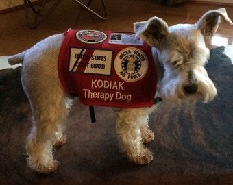 Military salute custom Service Dog Vest Made in USA