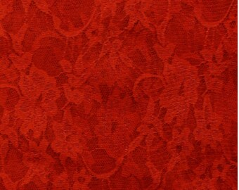 A SOLID COLOR RED LUREX LACE METER