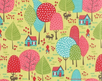 Little Red Riding Hood Fabric, Moda Lil Red 20502 17 Sprig, Stacy Iest Hsu, Baby Quilt Fabric, Cotton