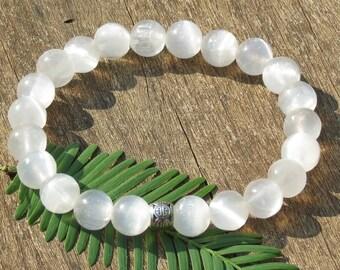 Selenite Moon Goddess Bracelet!