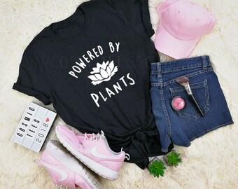 powered by plants shirt, vegan shirt, vegetarian, veganism, vegan clothing, plant based, plant based princess, tumblr, aesthetic clothing
