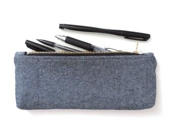 Denim Pencil Case Zipper Pencil Pouch