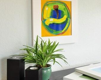 Framed Print-Prosperous Apple-10X10-Modern Fine Art