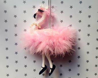 Flamingo Christmas decoration.flamingo Christmas ornament. Christmas tree decoration.