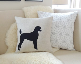 Standard Poodle Pillow Cover - Rustic Modern