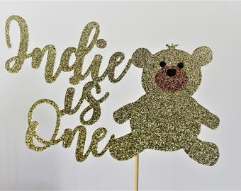 Teddy Bear Birthday Cake Topper