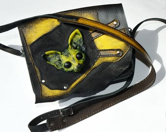 LEATHER BAG Women bag Shoulder bag Crossbody bag Handmade leather bag Messenger bag Leather bag Leather clutch Cat bag Vegan bag Sphinx cat