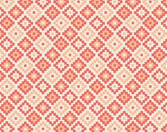 Coral Knit, Woodland Geometric Coral Knit by Riley Blake, Leggings fabric