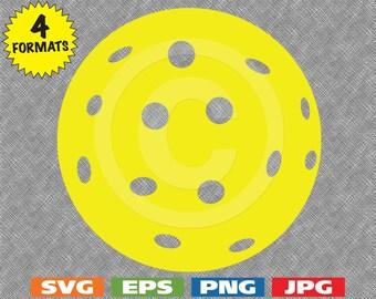 Pickleball Ball - svg cutting file PLUS eps/vector, jpg, png - 300dpi