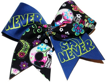 Never Say Never! Positive Sayings cheer bow by FunBows !