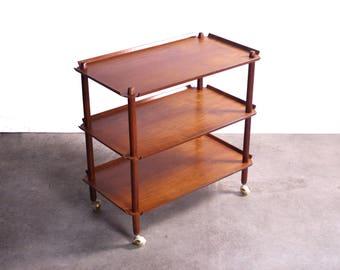 Stunning Expandable Poul Hundevad Mid Century Bar Cart