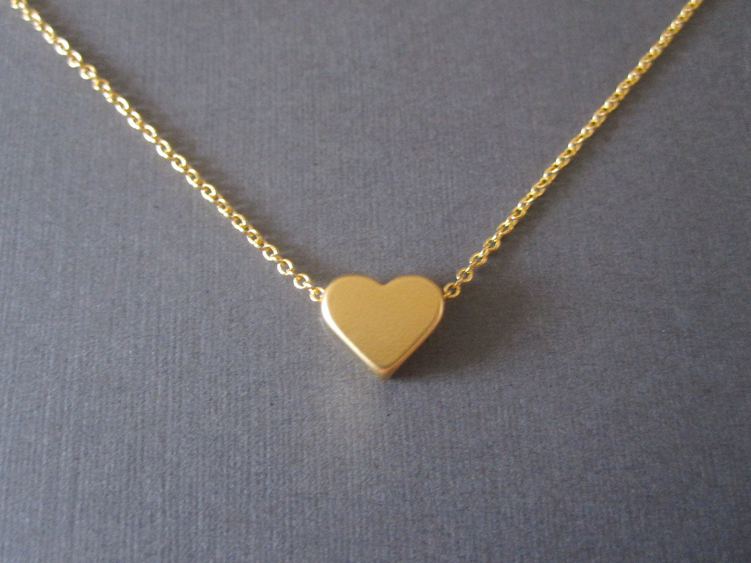 rg products gold loulourose heart necklace dip little rose engravable jewellery littleheartnecklace in tiny