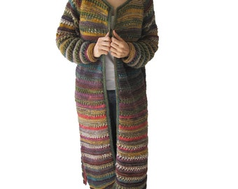 Hand Knitted Maxi Cardigan Stylish Winter Outfits On The Street 2015