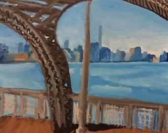NewYork skyline from under the brooklyn bridge - print