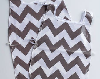 Waterproof Apron - Toddler & Primary - Gray Chevron