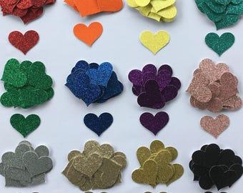 Heart Shaped Confetti - Custom Confetti Pack - Scatters - Confetti - Customize -  Glitter Card Stock Confetti - Heart Confetti - Glitter