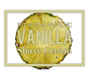 Pineapple Vanilla Shave Cream